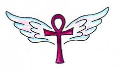 Ankh Tattoo angel wings