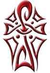 Ankh Tattoo Red