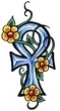 Ankh Tattoo with Flowers