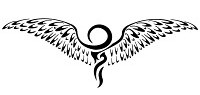 Ankh Tattoo wings