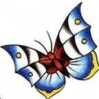 blue buterfly tattoo