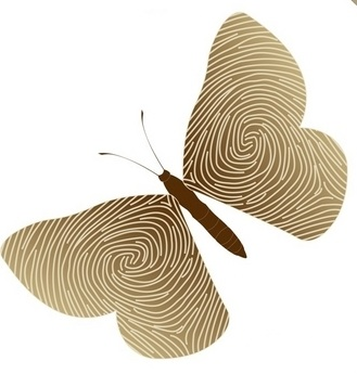 beige fingerprint design tattoo