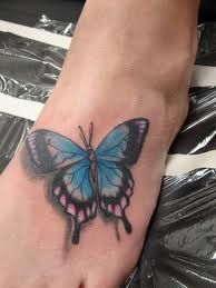 butterfly tattoo onfoot