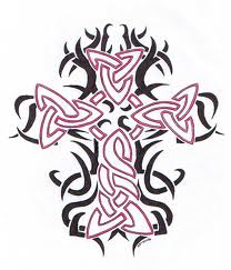 Artistic Tribal Cross