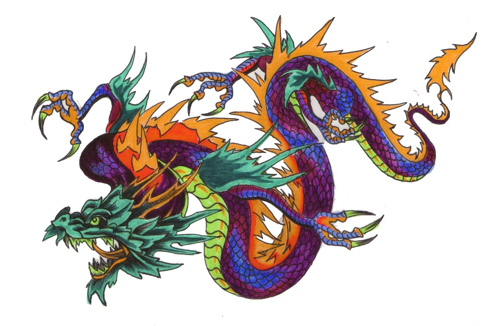 color chinese tattoo ideas