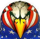 Patriotic american eagle tattoo