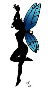 fairy silouette blue wings