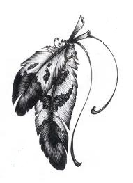 2 Feathers Feather Tattoo