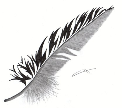 art feather tattoo