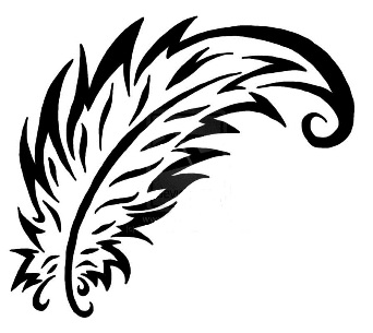 simple feather tattoo