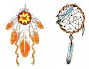 dream catcher feather tattoos