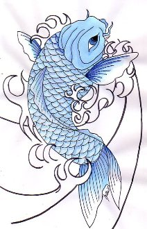 Fish tattoo meanings pictures images graphics for Blue koi fish meaning