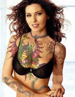 Pretty Girl with Body Tattoos