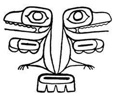 coloring page haida frogtattoo haida tattoo art totem pole - Totem Pole Animals Coloring Pages