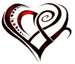 tribal heart tatoo