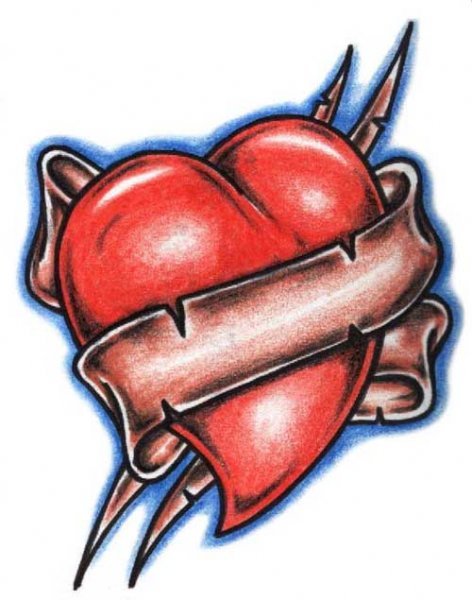 free heart tattoo designs