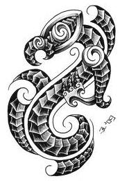 maori dragon tattoo idea