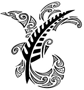 maori leaf tattoo idea