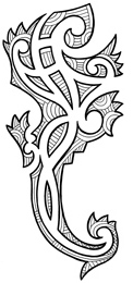 maori lizard tattoo idea