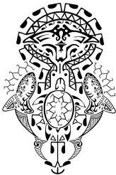 maori fish tattoo idea