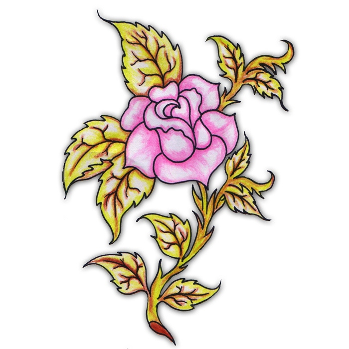 pink rose tattoo ideas