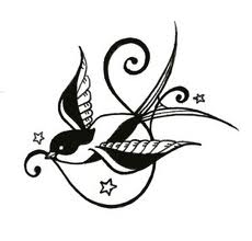 Artistic Swallow Tattoo
