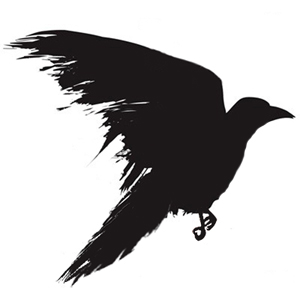 black Crow Tattoo Silhouette