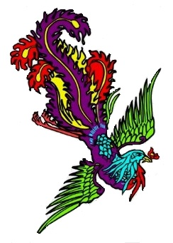 colorful Birds of Paradise tattoo image