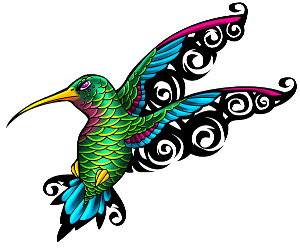 bright colored Hummingbirds Tattoo Ideas