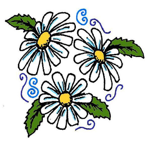 3 daisy flower tattoo design