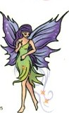 colorful fairy tattoo wire band tattoo