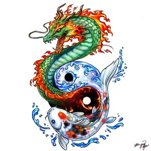 Japanese Dragon Koi Fish Tattoo Designs