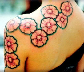 Japanese Style Tat on shoulder