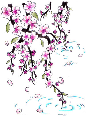 cherry blossom tatto