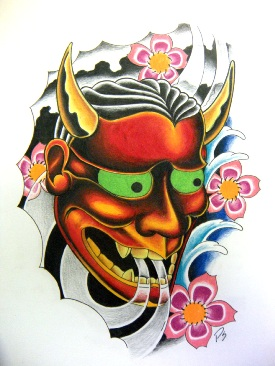 japanese Hannya masks