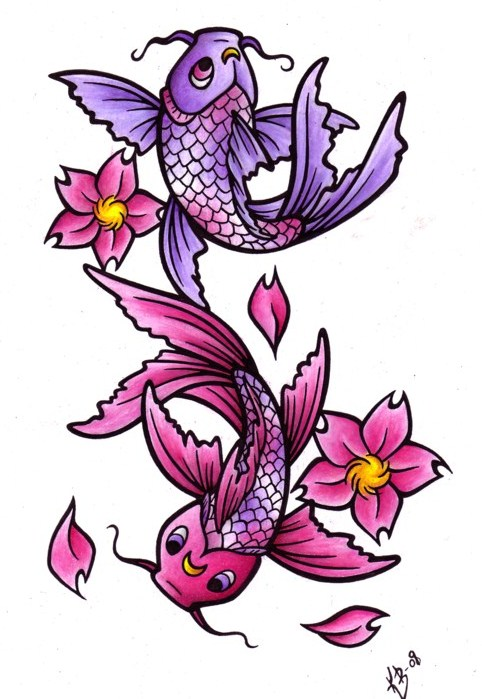 Koi tattoo meanings ideas for koi tattoos for Koi color meaning