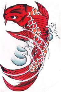 red koi represents son