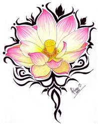 pink lotus flower tattoo