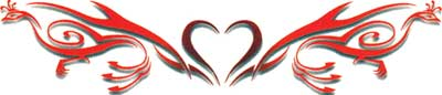 heart lower back or band tattoo