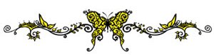 yellow butterfly band tattoo