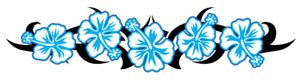 blue flower band tattoo