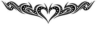 heart lower back tattoo tribal