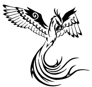 Tribal Phoenix Tattoo Designs for Men