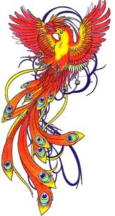 Rich Color Phoenix Tattoo Ideas