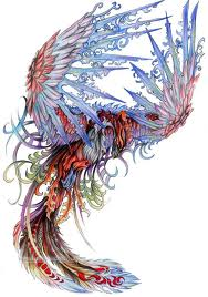 blue Phoenix Tattoo Idea