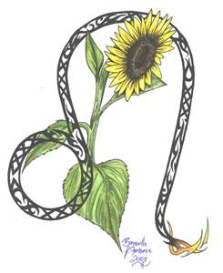 sunflower tattoo art