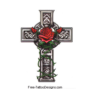 Free tattoo images gallery cool tattoo design ideas for Celtic cross with roses tattoo designs